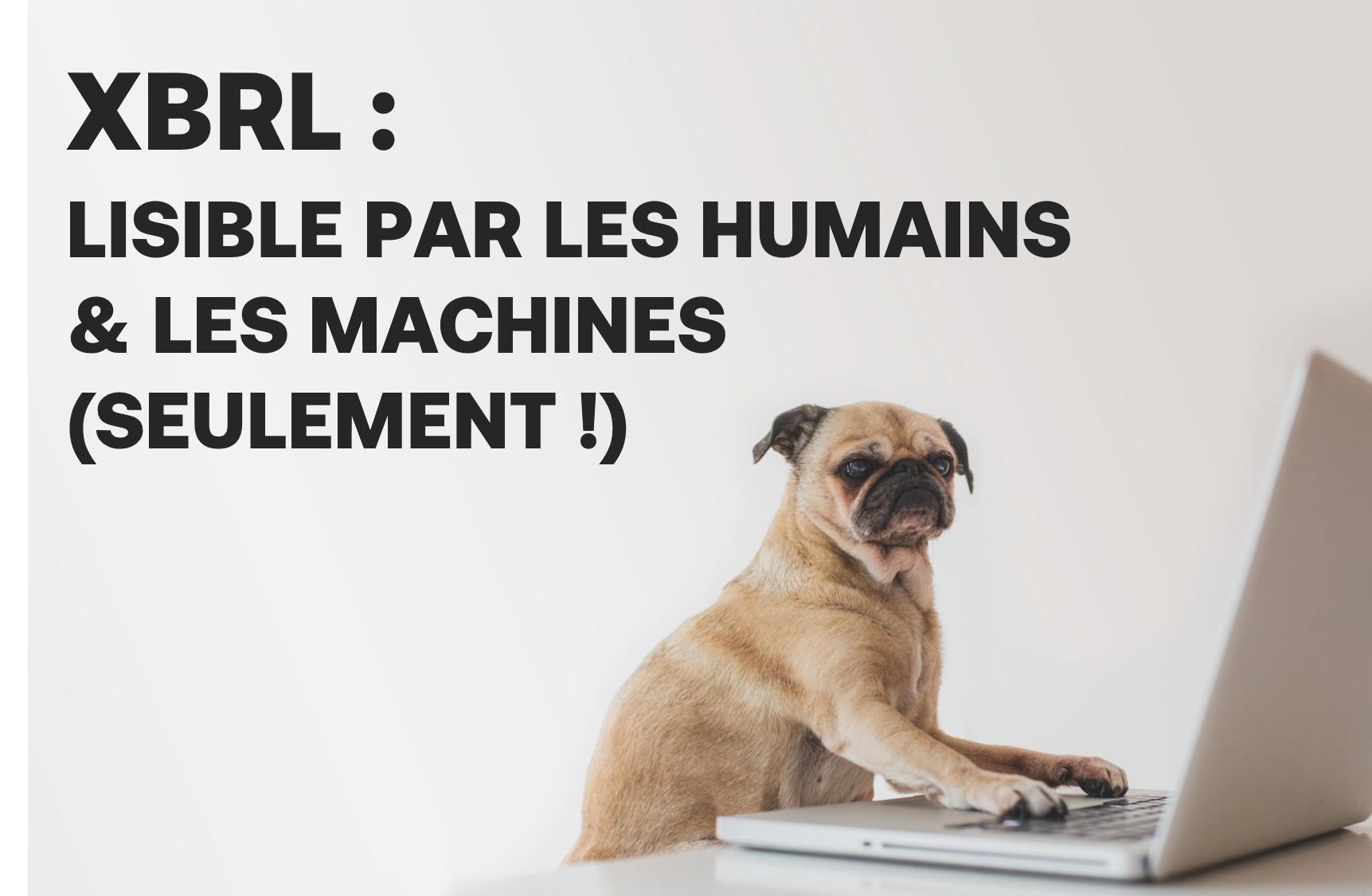 XBRL : LISIBLE PAR LES HUMAINS ET LES MACHINES